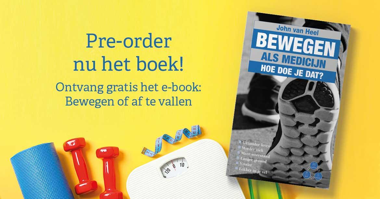 Pre-order het boek Bewegen als medicijn plus gelijknamig online programma